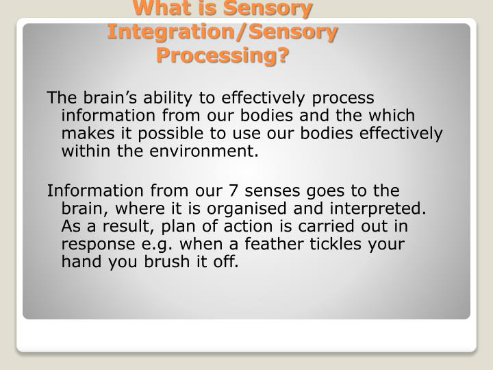 The brain's ability to effectively process information from our bodies and the