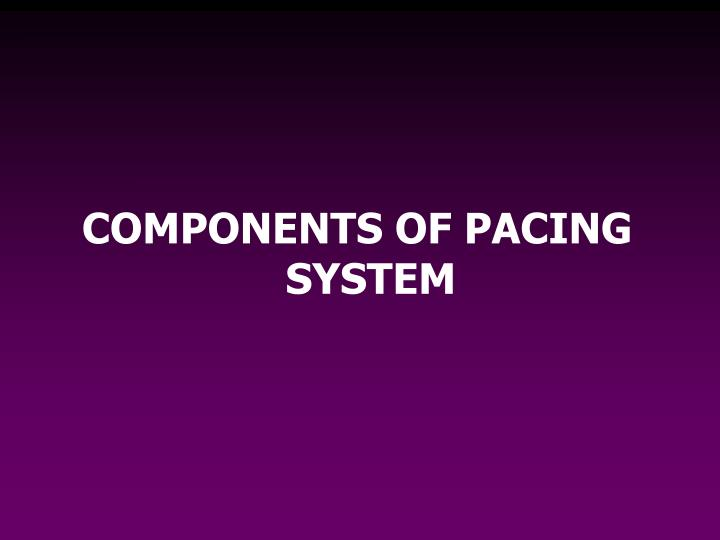 COMPONENTS OF PACING SYSTEM