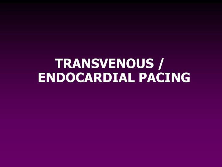 TRANSVENOUS / ENDOCARDIAL PACING