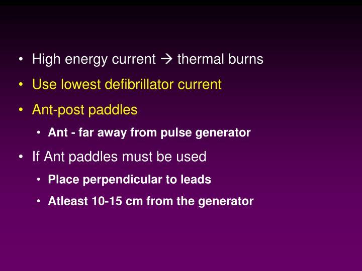 High energy current