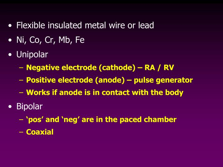 Flexible insulated metal wire or lead