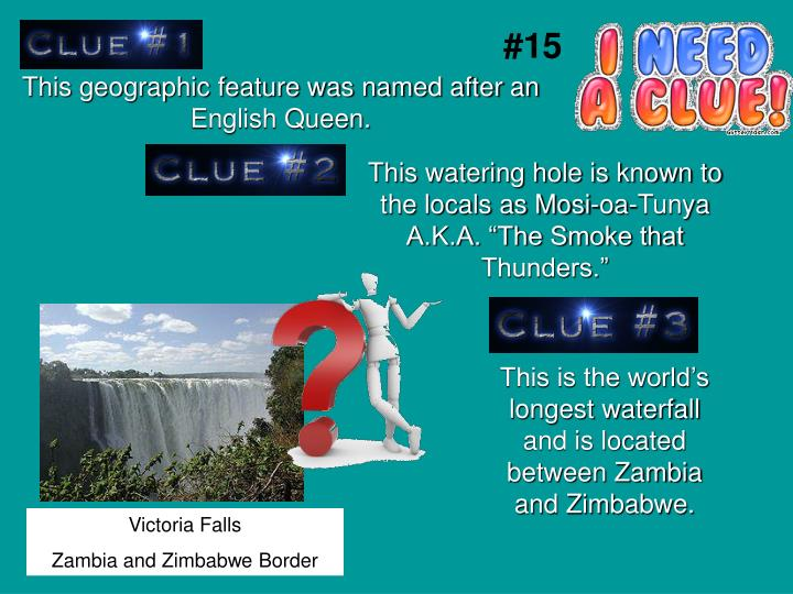 This geographic feature was named after an English Queen.
