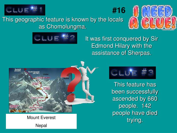 This geographic feature is known by the locals as Chomolungma.