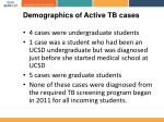 demographics of active tb cases