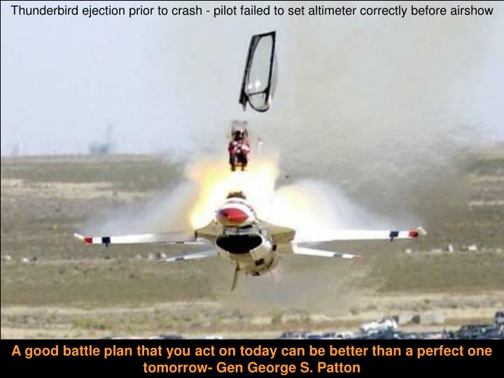 Thunderbird ejection prior to crash - pilot failed to set altimeter correctly before airshow