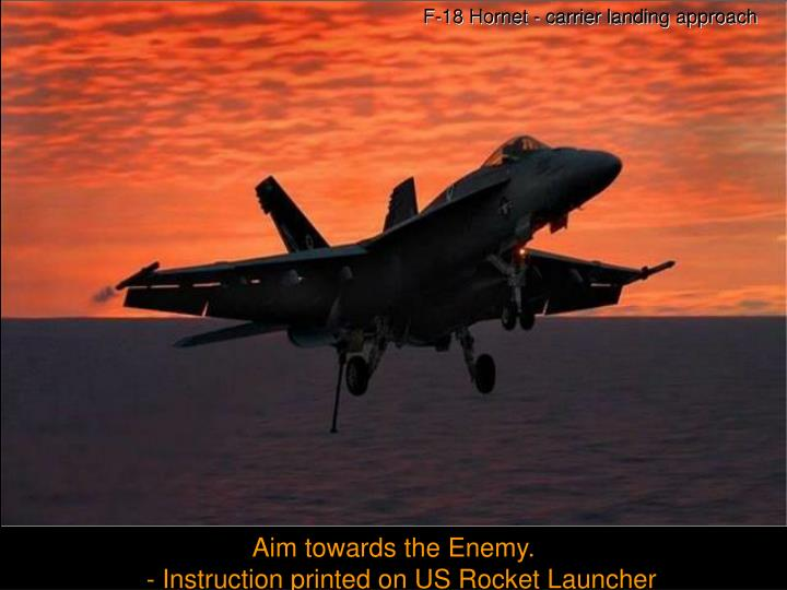 F-18 Hornet - carrier landing approach