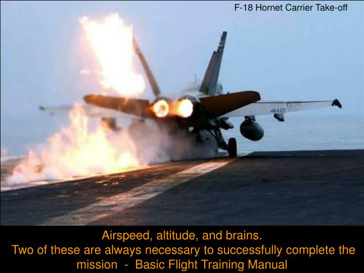 F-18 Hornet Carrier Take-off