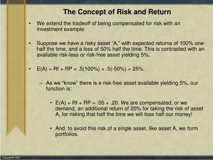 The Concept of Risk and Return