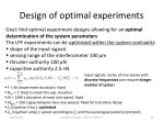 design of optimal experiments