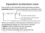 equivalent acceleration noise1