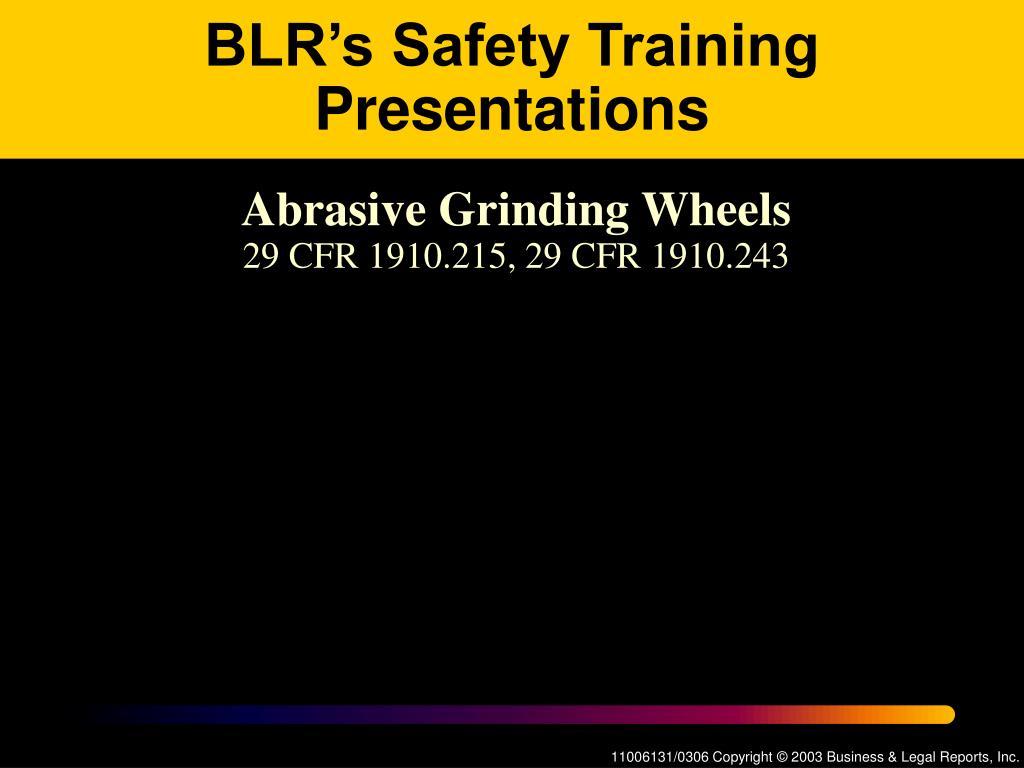 ppt blr s safety training presentations powerpoint presentation