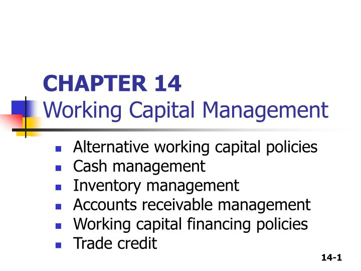 chapter 14 working capital management n.