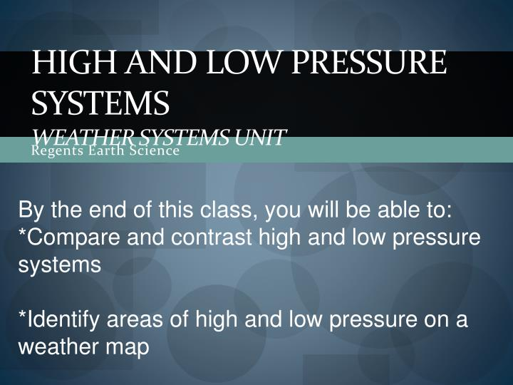 high and low pressure systems weather systems unit n.