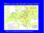 where were the death camps built