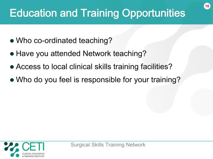 Education and Training Opportunities
