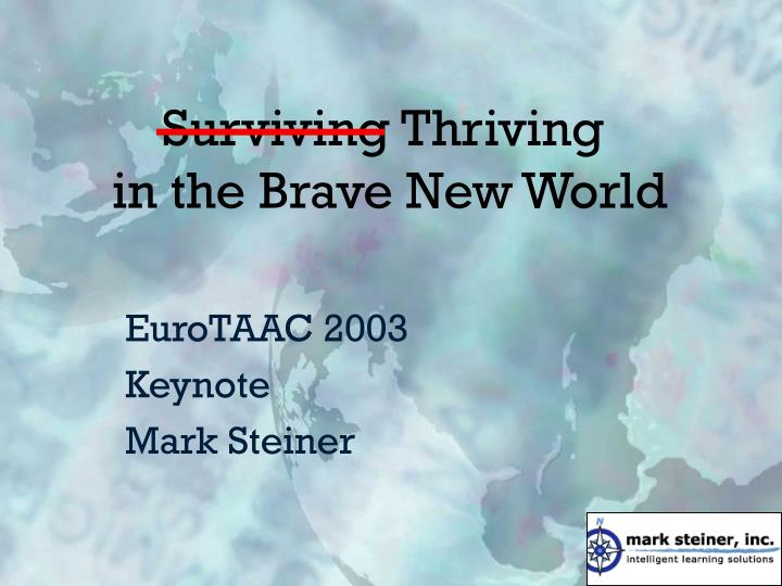 surviving thriving in the brave new world n.