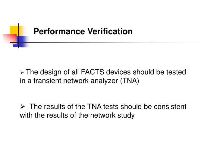 Performance Verification
