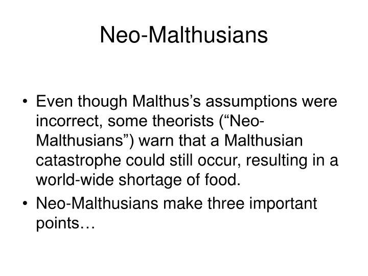 Neo-Malthusians