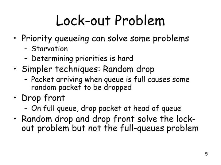 Lock-out Problem