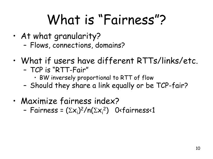 "What is ""Fairness""?"