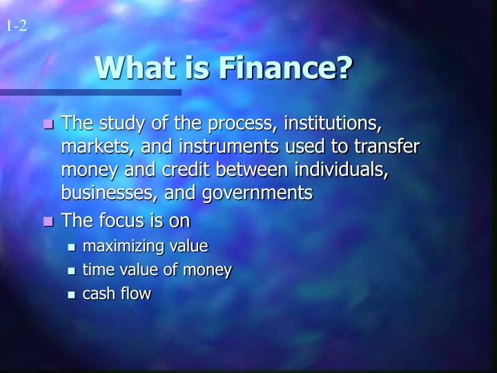 What is finance