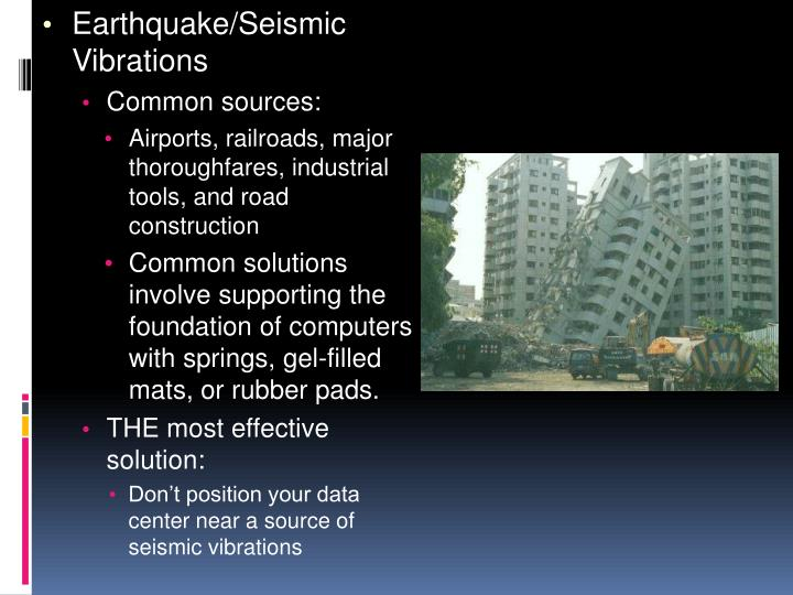 Earthquake/Seismic Vibrations