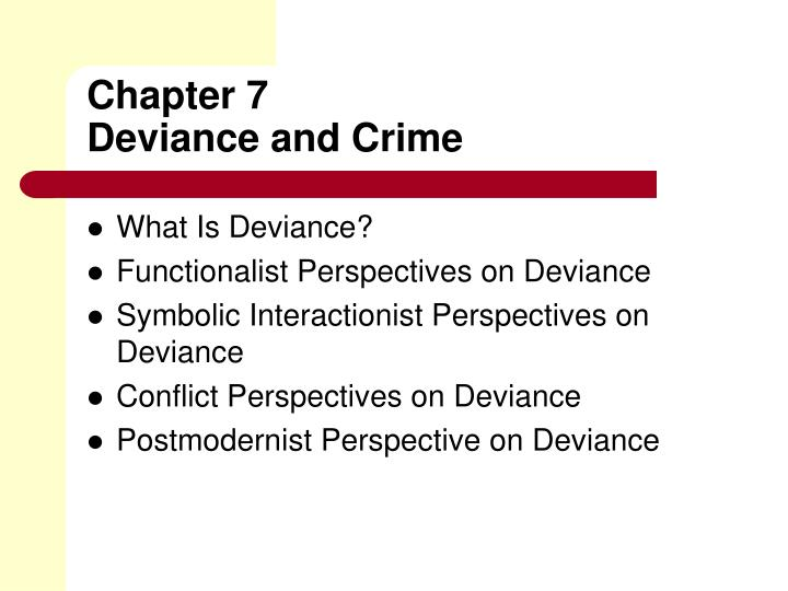 Ppt Chapter 7 Deviance And Crime Powerpoint Presentation Id3036219