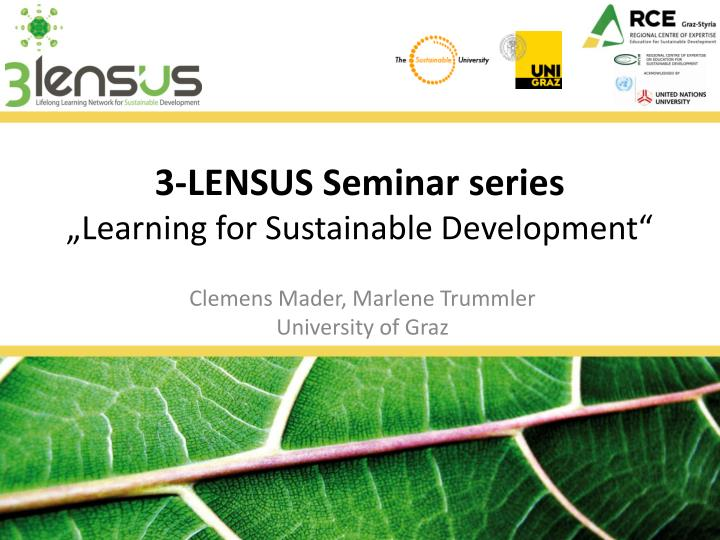 3 lensus seminar series learning for sustainable development n.