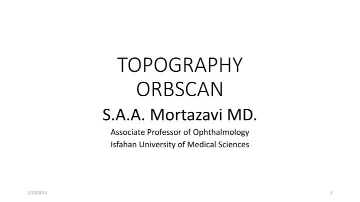 topography orbscan