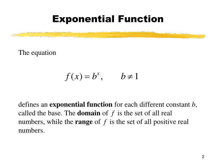 Exponential function