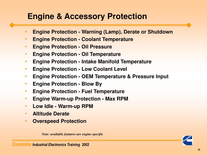 Engine & Accessory Protection