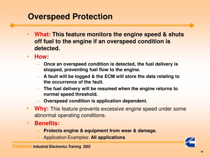 Overspeed Protection