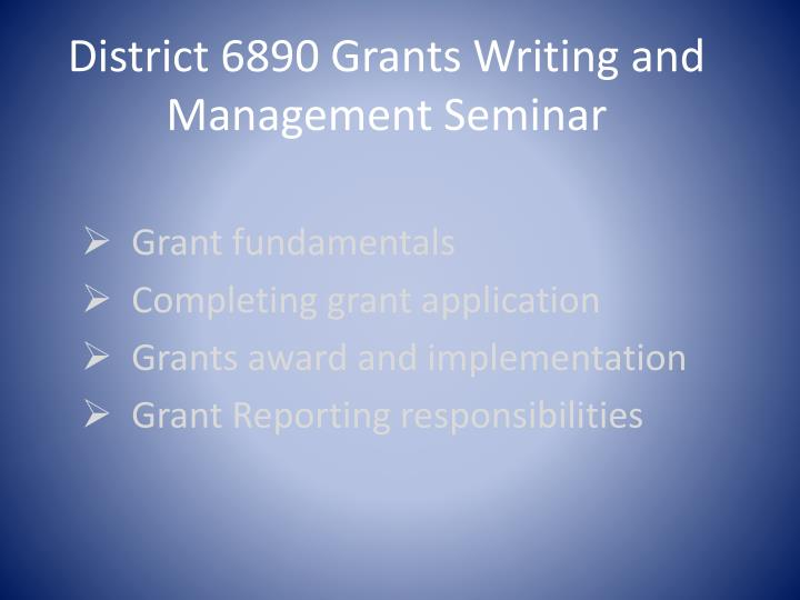 district 6890 grants writing and management seminar n.