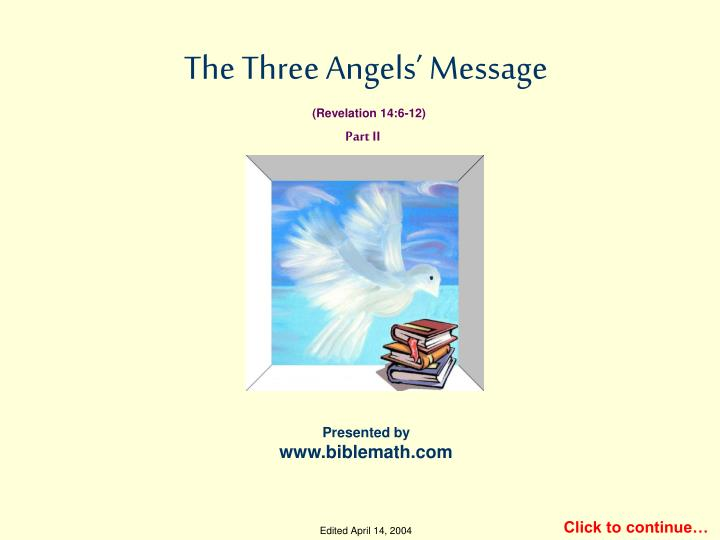the three angels message n.