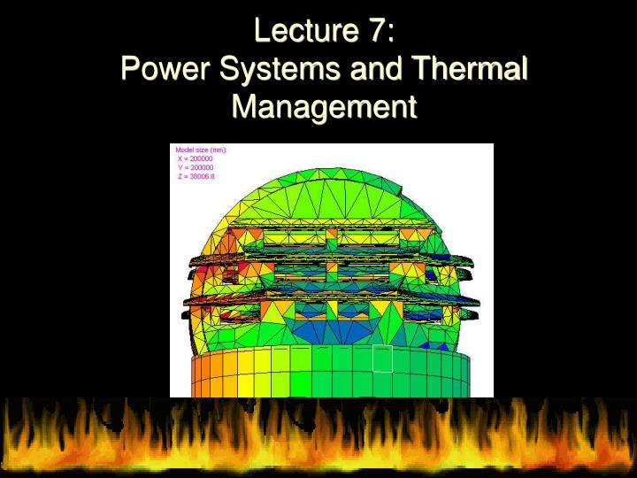 lecture 7 power systems and thermal management n.