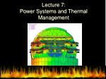 lecture 7 power systems and thermal management
