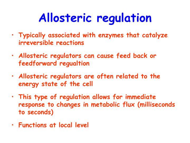 Allosteric regulation