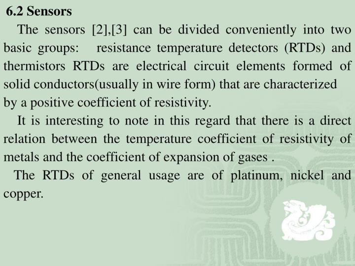 6.2 Sensors