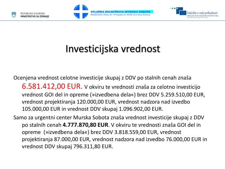 Investicijska vrednost