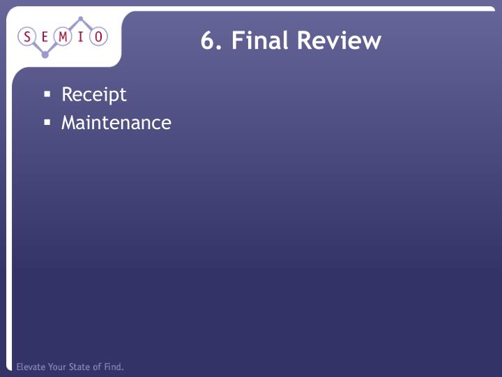 6. Final Review