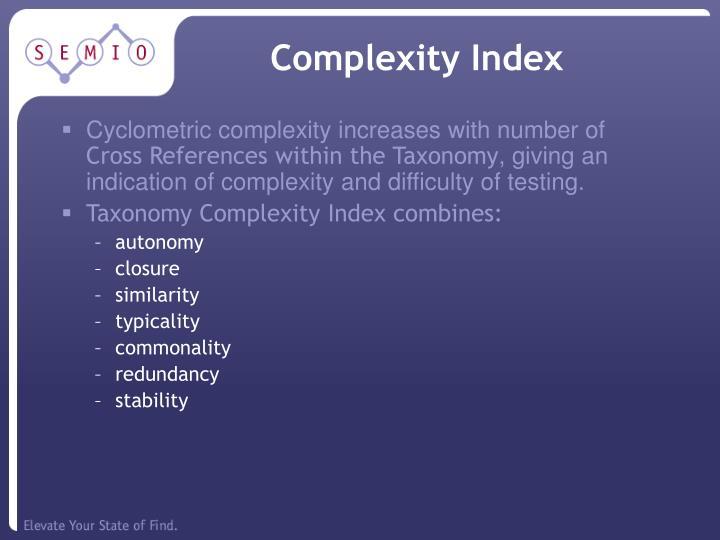 Complexity Index