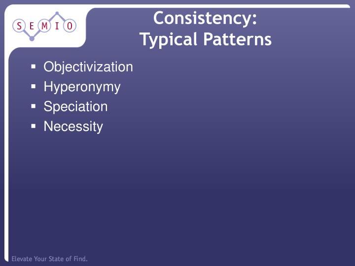 Consistency: