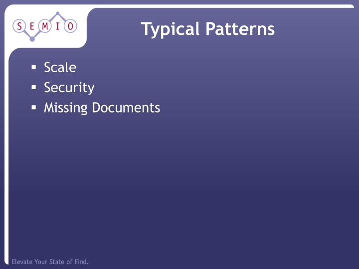 Typical Patterns