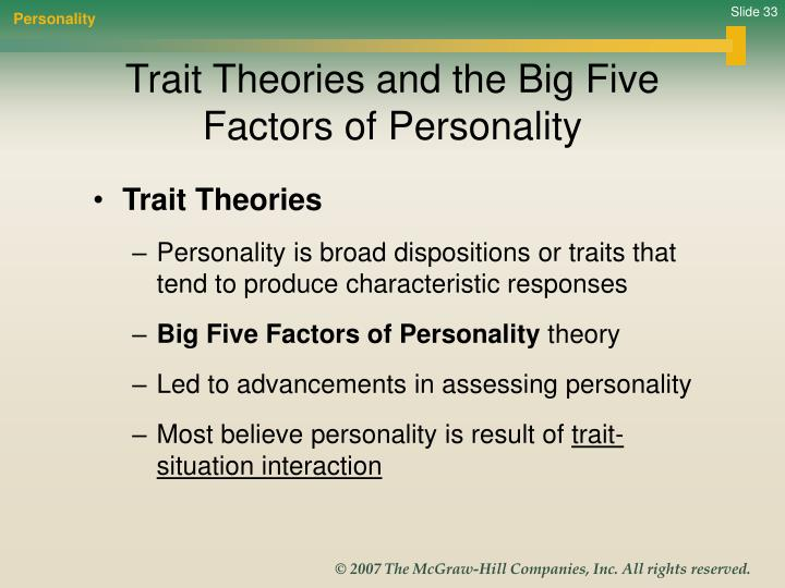 big five prsonality factors and its