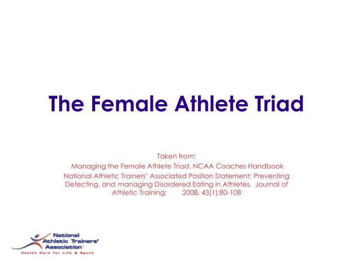 validity factor analysis and athletic training Analyses yielded three interpretable factors, accounting for 68% of the variance, which were labeled comfort with athletic trainer or coach, sex influence on quality of care, and athletic trainer preference multivariate analysis of variance indicated that factor scores of women and men differed.