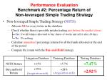 performance evaluation benchmark 2 percentage r eturn of non leveraged simple trading strategy