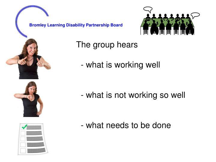 The group hears