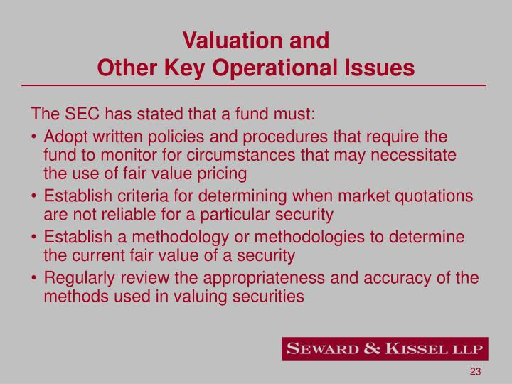 Valuation and