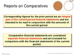 reports on comparatives