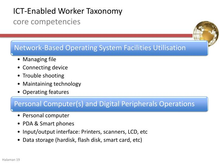 ICT-Enabled Worker Taxonomy